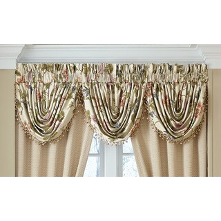 Croscill Daphne Waterfall Window Swag Valance - 48.5 x 33