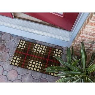 Plaid Coir Nonslip Doormat