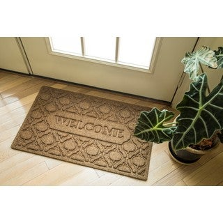 Welcome Florence Polypropylene Weather Beater Doormat (18 Inches x 30 Inches)