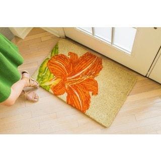 Colonial Willamsburg Foundation Tangerine Lily Handwoven Coconut Fiber Doormat