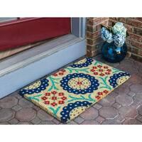 Monroe Multicolor Coir Handwoven Coconut Fiber Doormat
