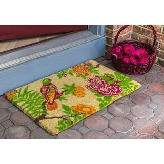 Summer Peony Coconut Fiber Handwoven Doormat