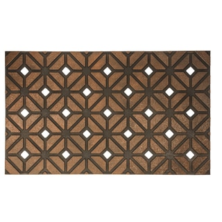 Rhombus Weave Recycled Rubber Doormat