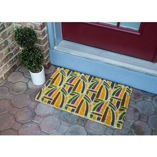 Kaleidoscope Multicolor Coir Handwoven Coconut Fiber Doormat