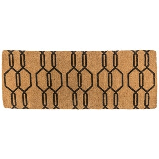 Gossamer Multicolor Coir 18-inch x 47-inch Extra-thick Handwoven Coconut Fiber Doormat