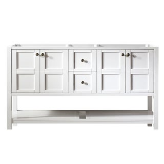 Florence White 60-inch Double Bathroom Vanity (Cabinet Only)