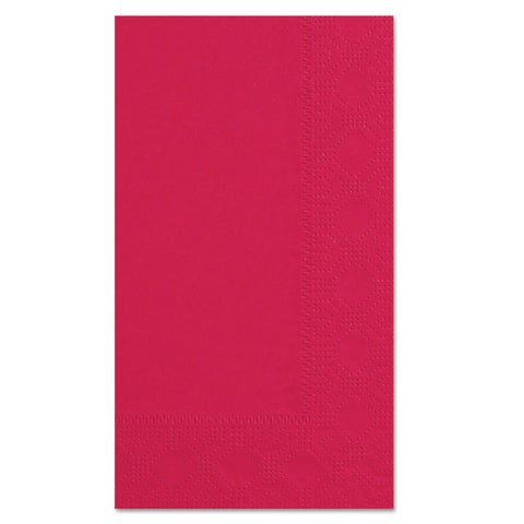 Hoffmaster Dinner Napkins 2-Ply 15 x 17 Red 1000/Carton