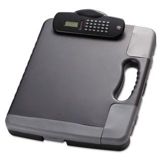 Officemate Portable Storage Clipboard Case with Calculator 11 3/4 x 14 1/2 Charcoal