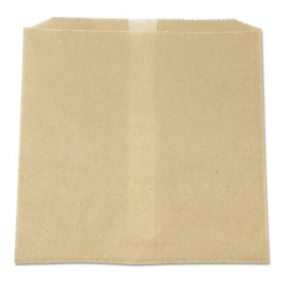 HOSPECO Waxed Napkin Receptacle Liners, 8 x 7 x 8, Brown, (Pack of 500)