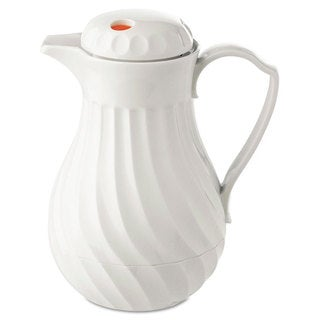 Hormel Poly Lined Carafe Swirl Design 40-ounce Capacity White
