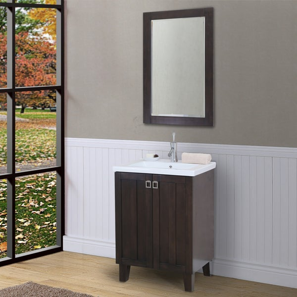 Shop 24 Inch Extra Thick Ceramic Top Single Sink Brown