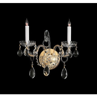 Crystorama Traditional Crystal Collection 2-light Polished Brass/Crystal Wall Sconce