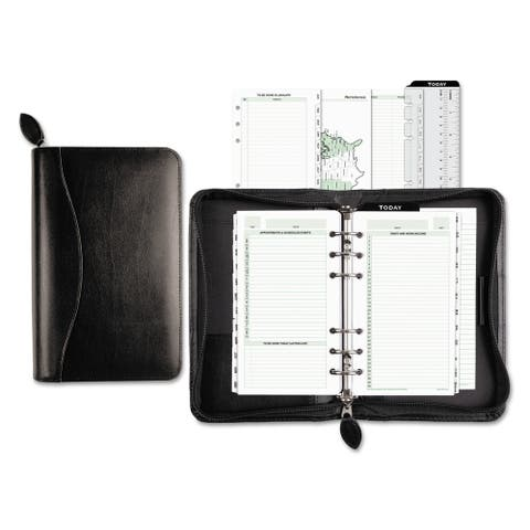 Day-Timer Recycled Bonded Leather Starter Set, 8 4/5 x 5 1/2 x 1 1/2, White