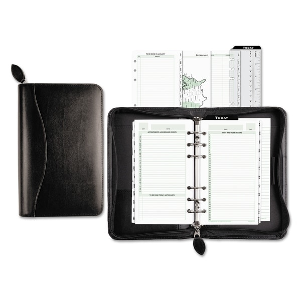 Day-Timer Recycled Bonded Leather Starter Set, 8 4/5 x 5 1/2 x 1 1/2, White. Opens flyout.