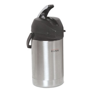 BUNN 2.5 Liter Lever Action Airpot Stainless Steel