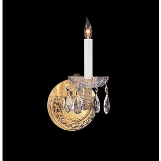 Crystorama Traditional Crystal Collection 1-light Polished Brass/Crystal Wall Sconce