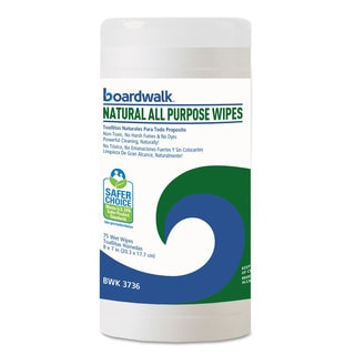 Boardwalk Natural All Purpose Wipes 7 x 8 Unscented 75/Canister
