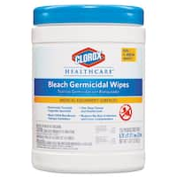 Clorox Healthcare Bleach Germicidal Wipes 6 x 5 Unscented 150/Canister