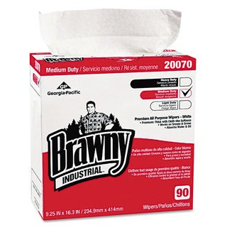 Georgia Pacific Professional Medium-Duty Premium Wipes 9 1/4 x 16 3/8 White 90 Wipes/Box 10 Boxes/Carton
