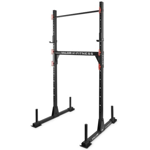 Valor Fitness BD-21 Yoke Rack with J-Hooks, Adjustable Crossbar and Pull Up Bar