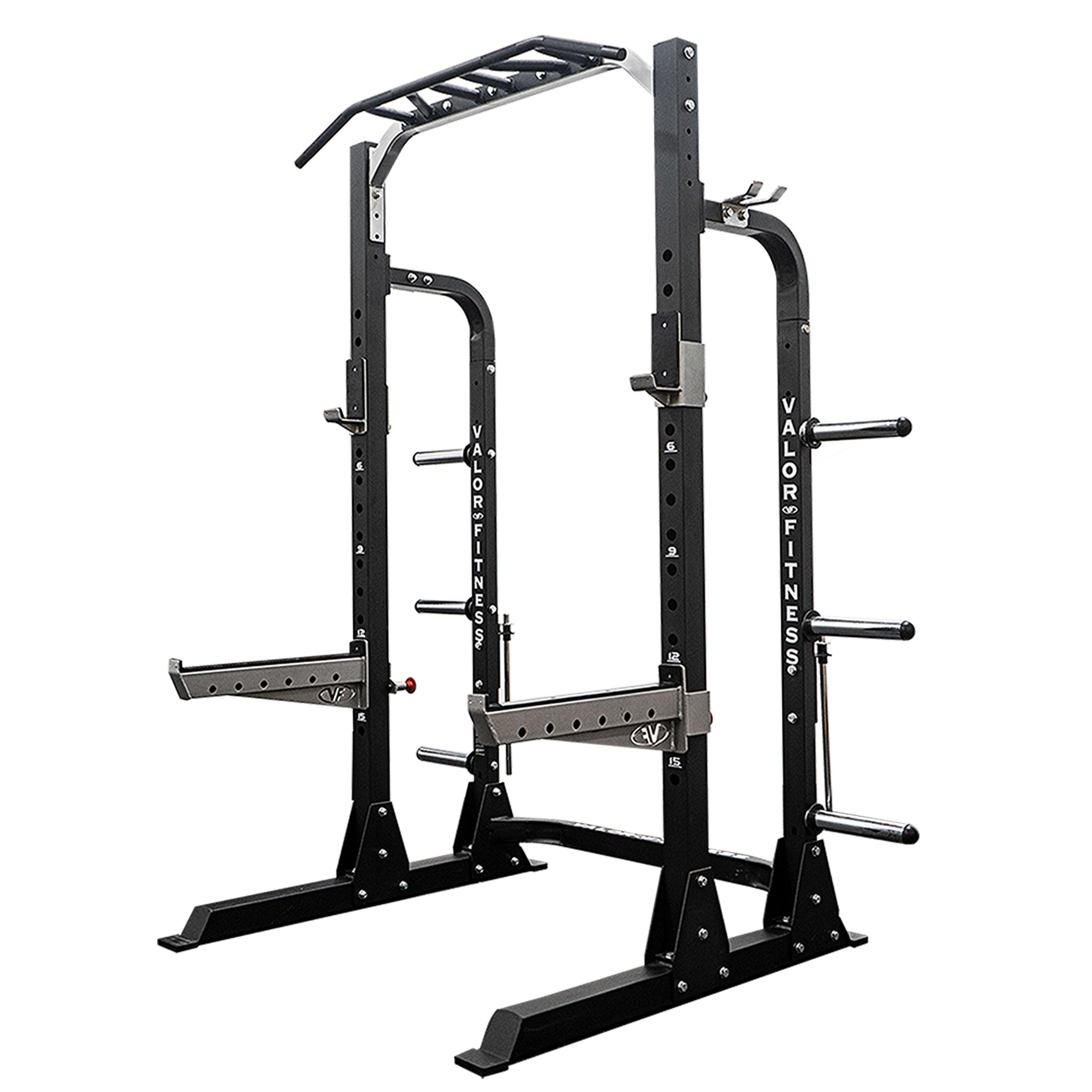 Valor Fitness ValorPRO BD-58 Half Rack with Plate Storage...