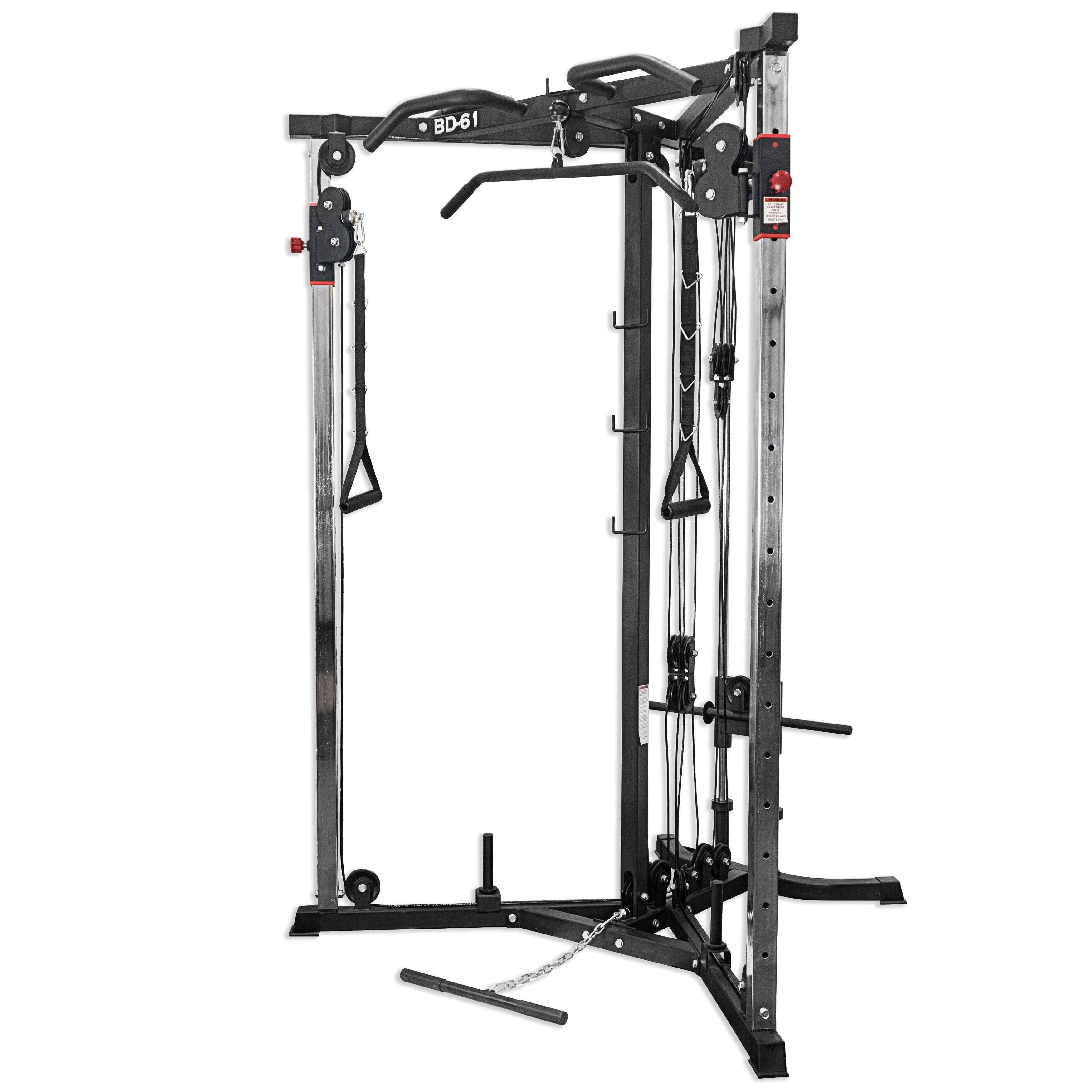 Valor Fitness BD-61 Cable Crossover Station, Silver steel