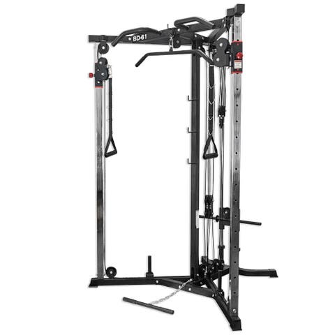 Valor Fitness BD-61 Cable Crossover Machine w/ Lat Pull Down Bar, Cable Row Machine, and Pull Up Station