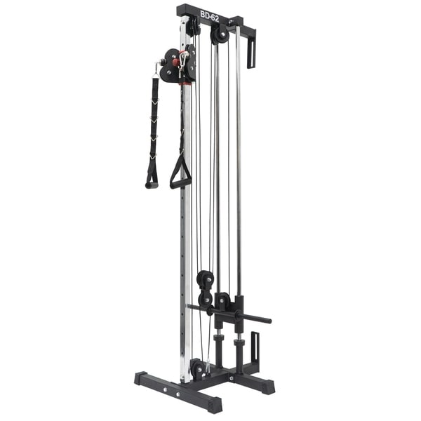 Shop Valor Fitness Bd 62 Wall Mount Cable Station With Adjustable Dual Pulley System Overstock 13927140