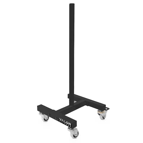 Valor Fitness BH-19 Mobile Bumper Plate Stand with wheels
