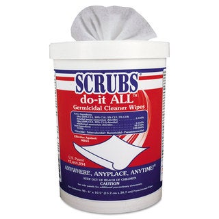 SCRUBS do-it ALL Germicidal Cleaner Wipes 6 x 10.5 Lemon-Lime 90/Canister
