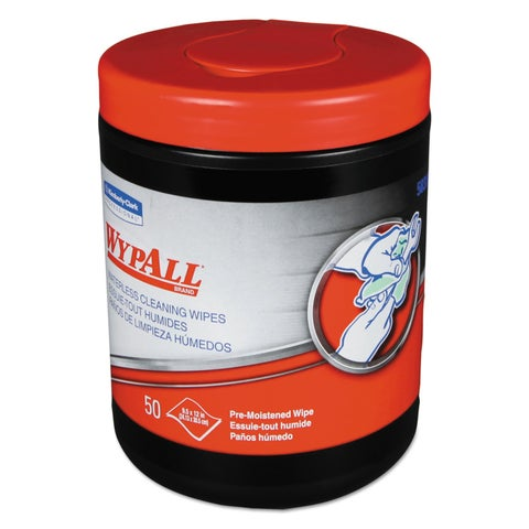WypAll Heavy-Duty Waterless Cleaning Wipes 12 x 12 Green-White 400/Carton