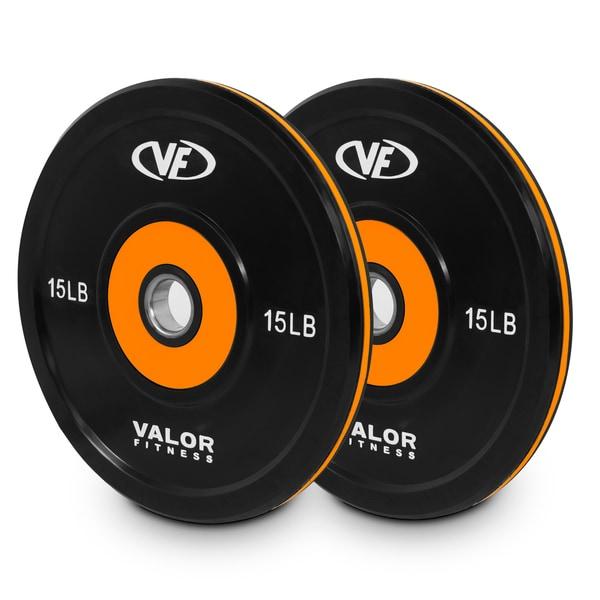 Valor Fitness BPP-15, 10lb Bumper Plate Pro (2)