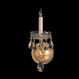 Crystorama Traditional Crystal Collection 1-light Polished Brass/Swarovski Spectra Crystal Wall Sconce