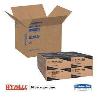 WypAll L10 Utility Wipes Box 12 x 10 1/4 White 125/Box 18 Boxes/Carton