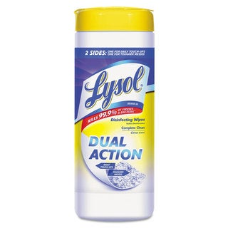 LYSOL Brand Dual Action Disinfecting Wipes Citrus 7 x 8 35/Canister