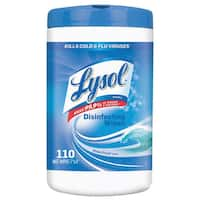 LYSOL Brand Disinfecting Wipes Ocean Fresh Scent 7 x 8 White 110/Canister 6/Pack