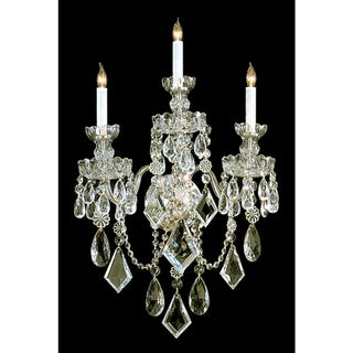 Link to Traditional Crystal 3-light Polished Brass/ Crystal Wall Sconce Similar Items in Sconces