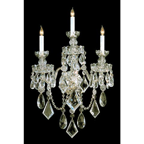 Traditional Crystal 3-light Polished Brass/ Crystal Wall Sconce