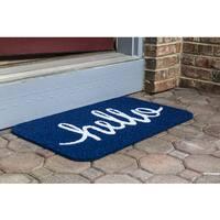 Simply Hello Multicolor PVC Doormat
