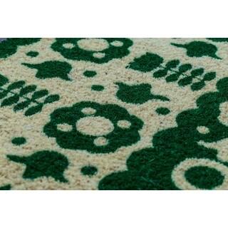 Coir Folk Floral Design Non-slip Doormat