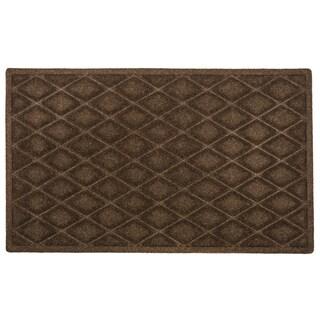 Weather Beater Chocolate Diamonds Polypropylene 18-inch x 30-inch Mat
