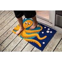 Octopus Handwoven Coconut Fiber Doormat - 1'6 x 2'6