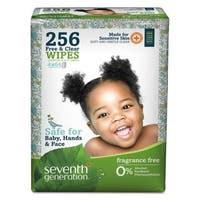 Seventh Generation Free and Clear Baby Wipes Refill Unscented White 256/Pack