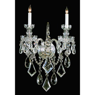 Link to Traditional Crystal 2-light Polished Brass/ Crystal Wall Sconce Similar Items in Sconces