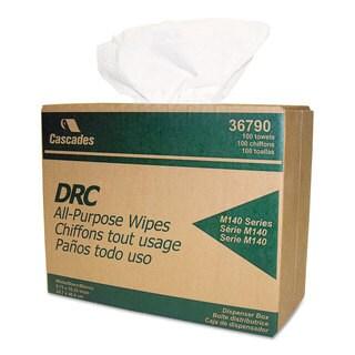Cascades Double Recrepe Wipers 9 3/4 x 16 1/2 White 100/Box 8 Box/Carton
