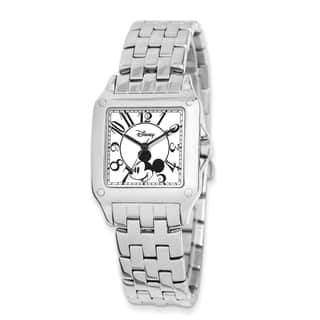 Disney Stainless Steel/ Alloy Men's Square Mickey Mouse Watch|https://ak1.ostkcdn.com/images/products/13927301/P20560017.jpg?impolicy=medium