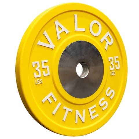 Valor Fitness BPPU Polyurethane Bumper Plates for Cross Training, Olympic Weightlifting, and Powerlifting