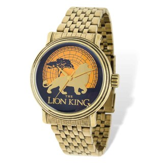 Disney Stainless Steel Men's Lion King Antique Gold-tone Watch