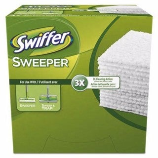 Swiffer Dry Refill Cloth White 10 2/5 x 8 37/Box 4 Box/Carton