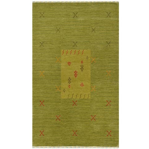 Handmade Gabbeh Wool Rug (India) - 3' x 5'